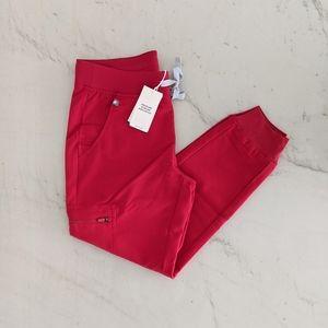 FIGS Red Zamora Joggers (Petite)